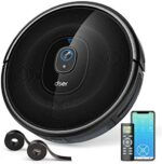 Robot Vacuum Cleaner, dser 1600pa Strong Suction, Wi-Fi Connected, Self-Charging Robotic Vacuum for Cleaning Carpets and Pet Hair, Voice Control, Compatible with Alexa and Google Home (RoboGeek 21T)